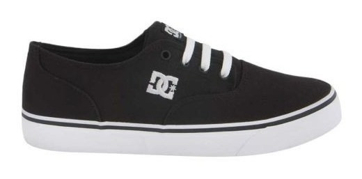 Tenis Casual Dc Shoes Lona 7bkw Color Negro / Blanco 186232