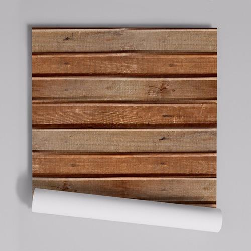 Imagem 1 de 9 de Papel De Parede Adesivo Madeira Demolição 1,00x0,50m - Md-34