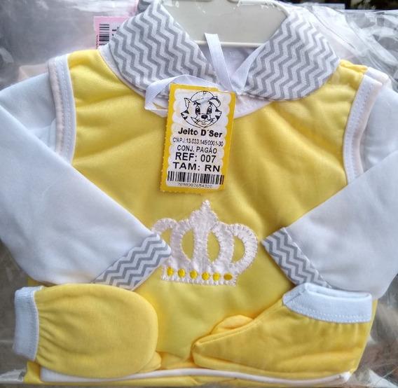 Kit Pagão Maternidade Coroa Menino Menina Rn Várias Cores