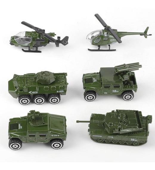 1:87 6 Unids Miniatura Modelo De Coche Militar Conjunto De V