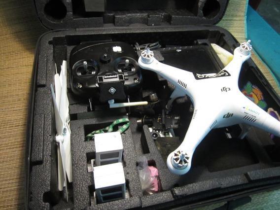 Drone Dji Dj6 Completo Com Tela Gopro Ginball 1 Bateria Case