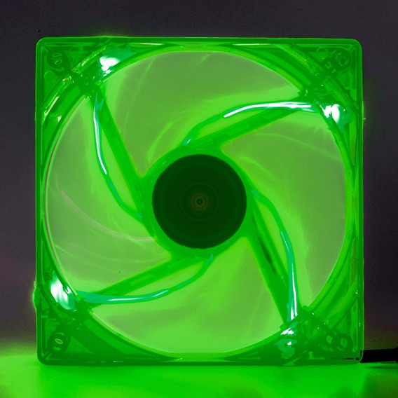 Cooler Fan Pc Gamer 120mm Led Verde Ventoinha Dx-12l