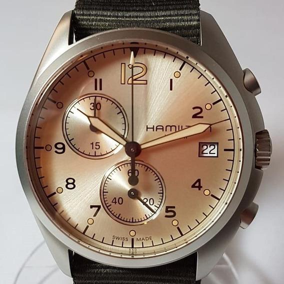 Relógio Hamilton Khaki Pionner Aviation Crono Militar