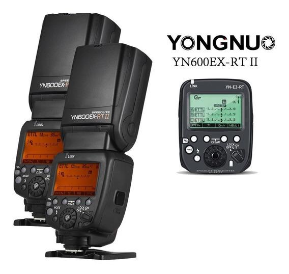Flash 2x Yongnuo Yn-600ex-rt Ii + Yn-e3-rt Ii + Yn-e3-rx