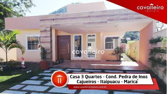 Casa Com 3 Dormitórios À Venda, 145 M² De Construção - Cajueiros (itaipuaçu) - Maricá/rj - Ca3037