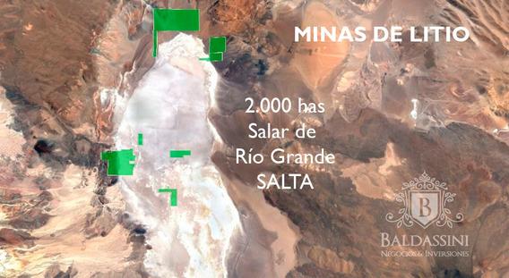 6 Minas De Litio Juntas O Separadas En Salar De Río Grande