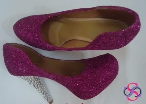 Sapato Maia Pata Brilho Púrpura (grandes Eventos)