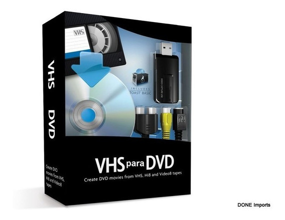 Aparelho Usb Vhs Para Dvd Conversor Video Aula Captura