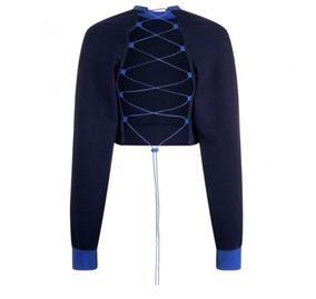 Blusa Decotada Fenty Puma Blue Lace Up Sweatshirt