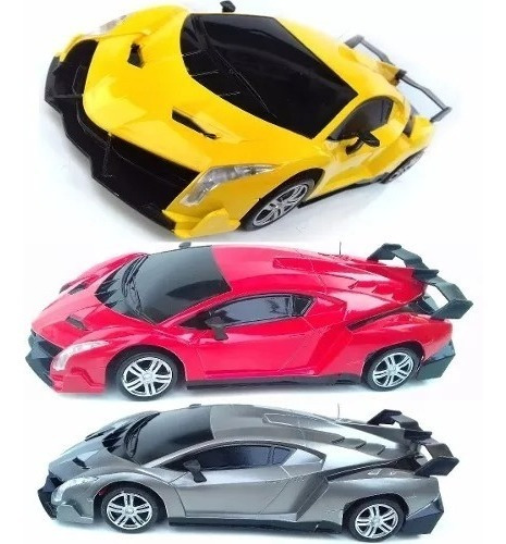 Carrinho Carro Controle Remoto 4 Canais Lamborghini Amarelo