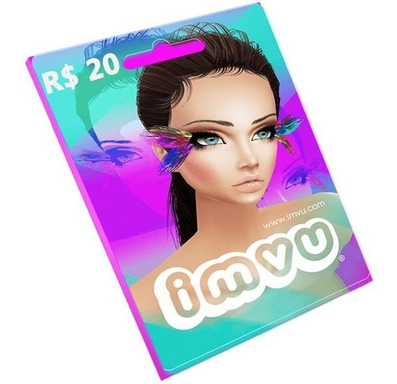 Cartão Imvu R$20 Reais Pré-pago - Moeda Virtual - Envio Imed