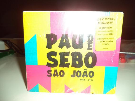 Box Pau De Sebo 5 Cds Forró Trio Nordestino Abdias Sanfona