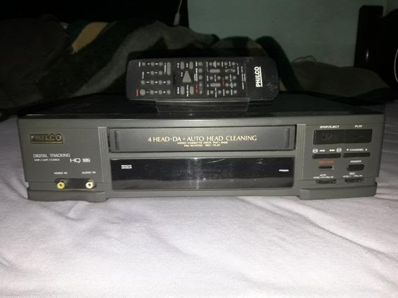 Video Cassete ( Philco) Com Controle ( Estética Impecável )