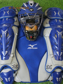 Mizuno Samurai Pro G2 Catchers Set Arreos Adulto Royal Gorra