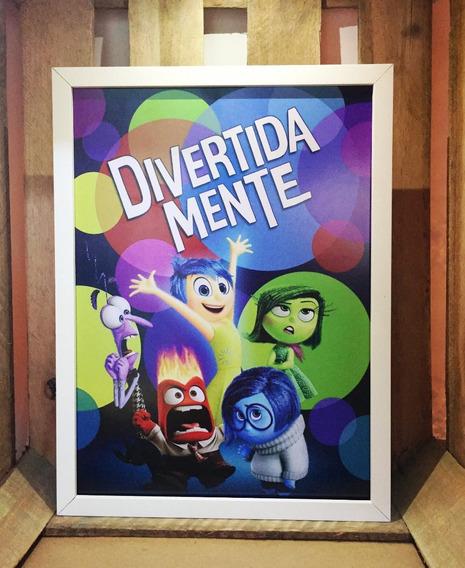 Poster Divertida Mente Pixar Quadro Decorativo Infantil
