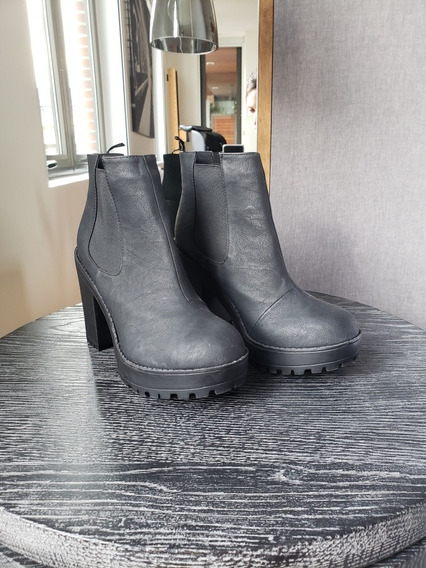 Botas Negra Talle 40 Mujer H&m