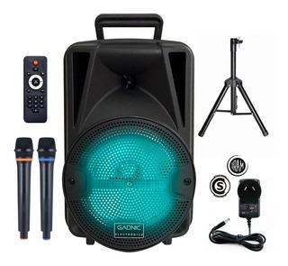 Parlante Portatil Karaoke Bluetooth Con Micrófono Y Soporte