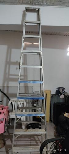 Escalera De 10 Tramos, De Aluminio