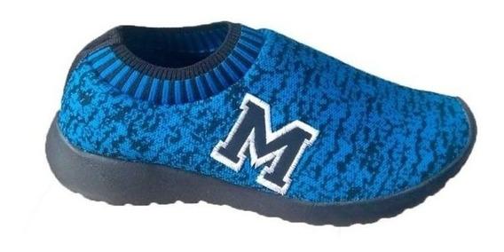 Tenis Marathon Anfibio Confort Azul/pto Promoção
