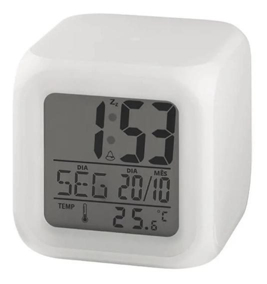 Relógio Despertador De Mesa Digital Luz Noturna Led