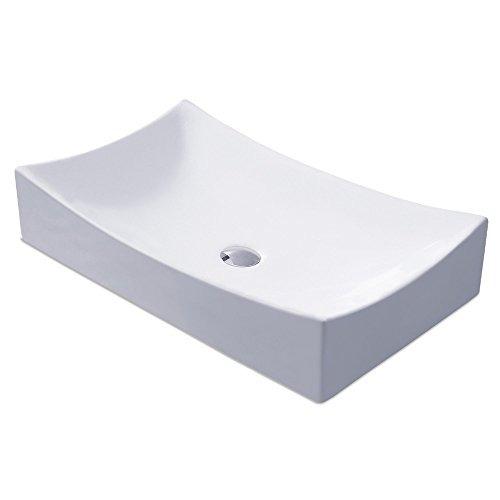 Kes Lavabo Del Baño Lavabo Del Recipiente Porcelana 25 Rect