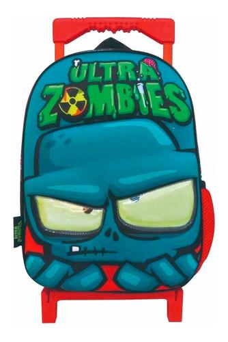 Mochila C/carro Ultra Zombies 30 Cm Cresko Om230