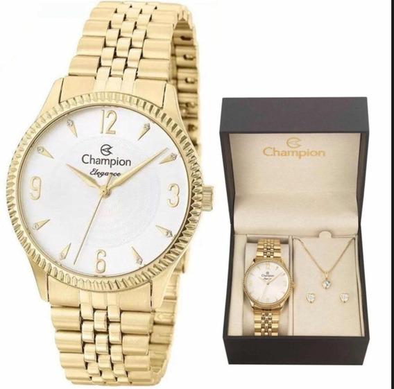 Relógio Champion Feminino Dourado Cn26073w
