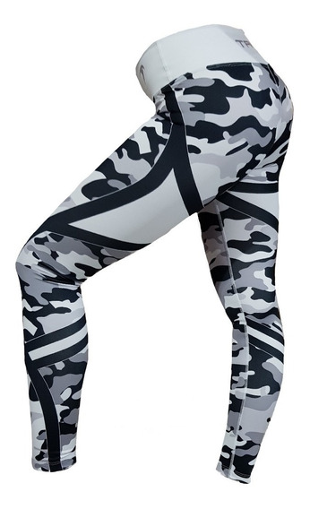 Calza Mujer Taiyo Fitness Running Crossfit Training New Camo