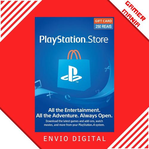 Playstation Psn R$250 Reais Br Ps3 Ps4 Ps5