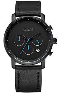 Reloj Baogela Para Hombre 1705-black Color Negro Pantalla