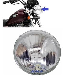 Bloco Óptico Do Farol C/ Vigia Suzuki Intruder 125 Até 2011