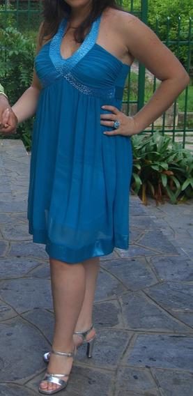 Vestido De Fiesta Corto Importado Talla L