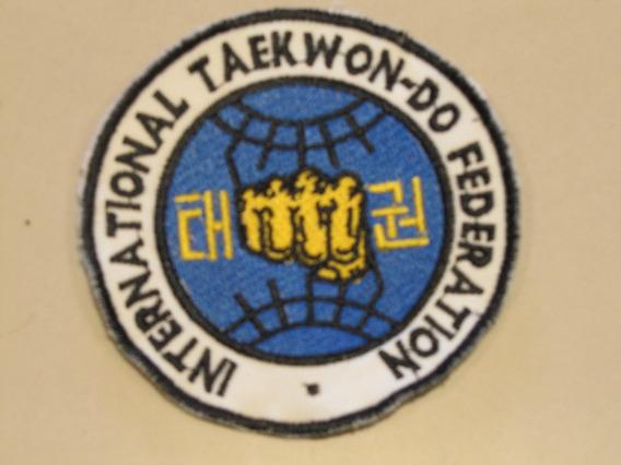 Escudo Parche Logo Taekwondo Itf Bordado Granmarc Dobok