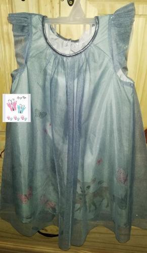 Vestido De Tul Con Brillitos Hym Para Nena Talle 5/6 Años