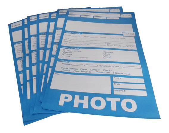 Envelope Fotoacabamento - Azul - 100 Folhas
