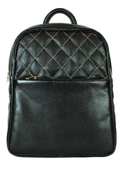 Mochila De Couro Legitima Feminina Star Bag 2302