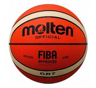 Balón Basquetbol Baloncesto #7 Caucho 12 Paneles Molten