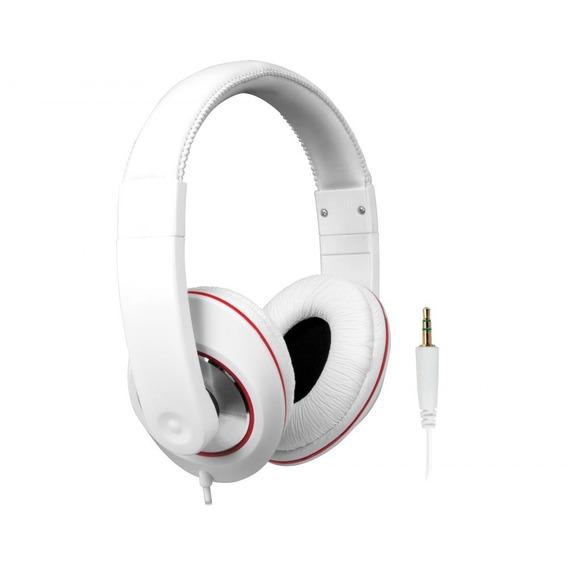 Fone De Ouvido Headphone Branco Com Fio - Isound