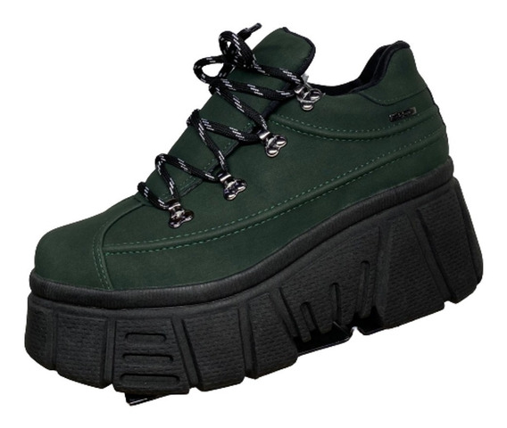 Tênis Feminino Dakota Verde Militar Plataforma G2511 - At