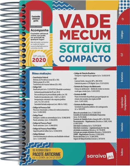 Vade Mecum Saraiva Compacto Espiral 2020 - 22ª Edição