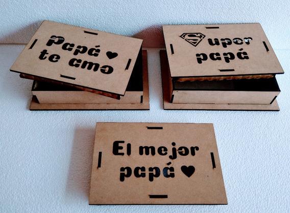 Caja Bombones Fibrofácil 10x15cm X 25 Día Del Padre