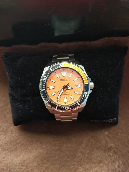 Reloj Seiko Samurai Naranja Srpc07 Usado
