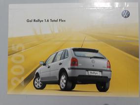 Gol Rallye 2005 Catálogo Brochura Folder Raro Unico Do Site
