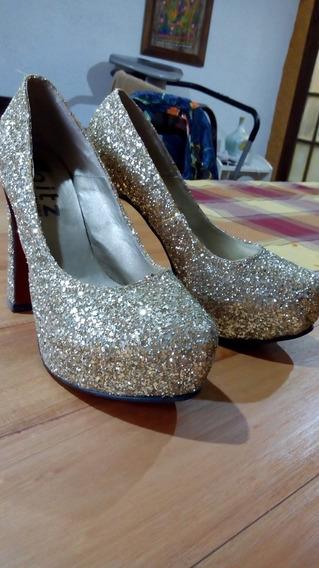 Zapatos Fiesta Dorados