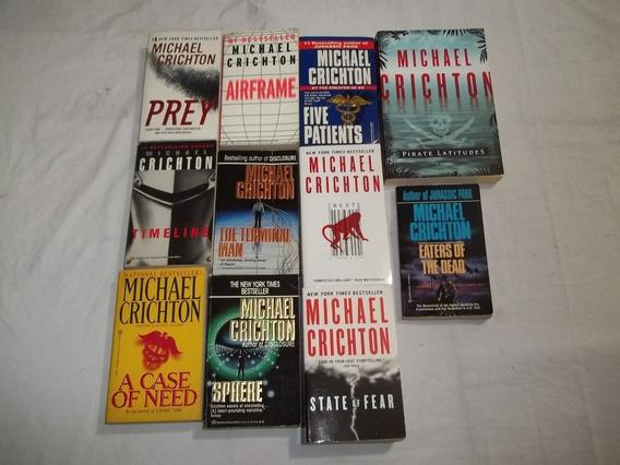 Lote 11 Livros Michael Crichton Em Inglês Romances