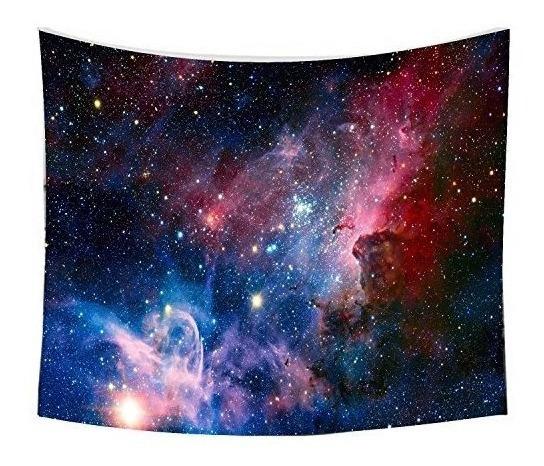 Suting Cielo Estrellado Tapiz, Home 3d Cósmico Galaxy Tapiz,