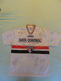 Camisa Autografada Assinada São Paulo 1997 Data Control