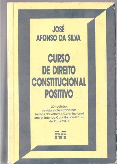 Curso De Direito Constitucional Positivo 20ª Ed José Afonso