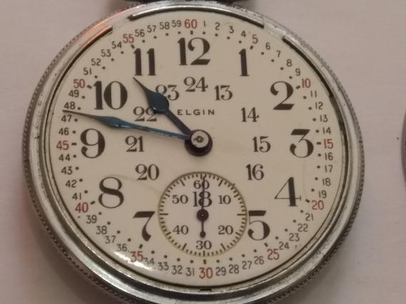 Reloj De Bolsillo Elgin Antiguo 1939 D Colección Funcionando