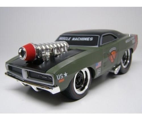 Maisto Muscle Machines 1969 Dodge Charger Escala 1/24